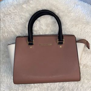 MK Selma leather satchel